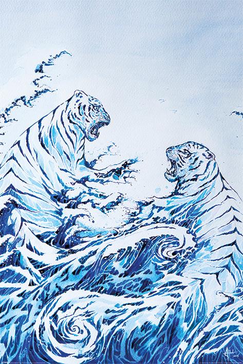Marc Allante - The Crashing Waves Poster