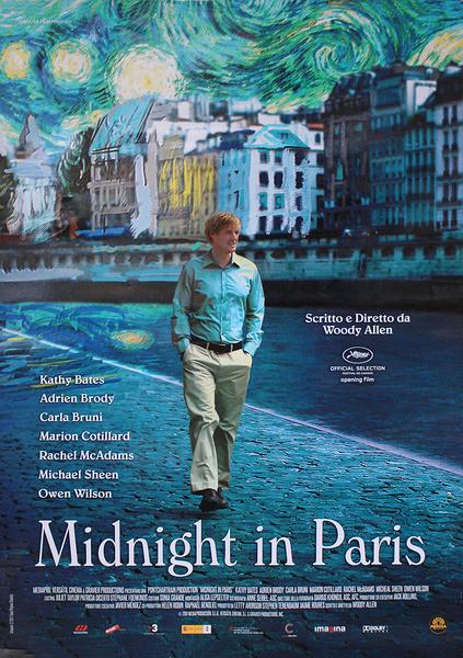 MIDNIGHT IN PARIS - woody allen Poster