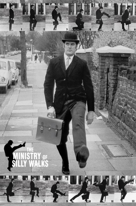 Monty Python - the ministry of silly walks Plakat
