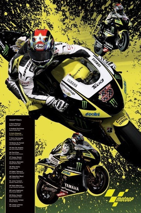 Moto GP - edwards Poster