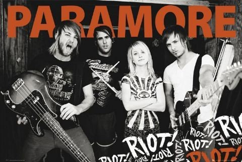 Paramore - group Plakat