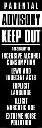 Parental advisory Plakat