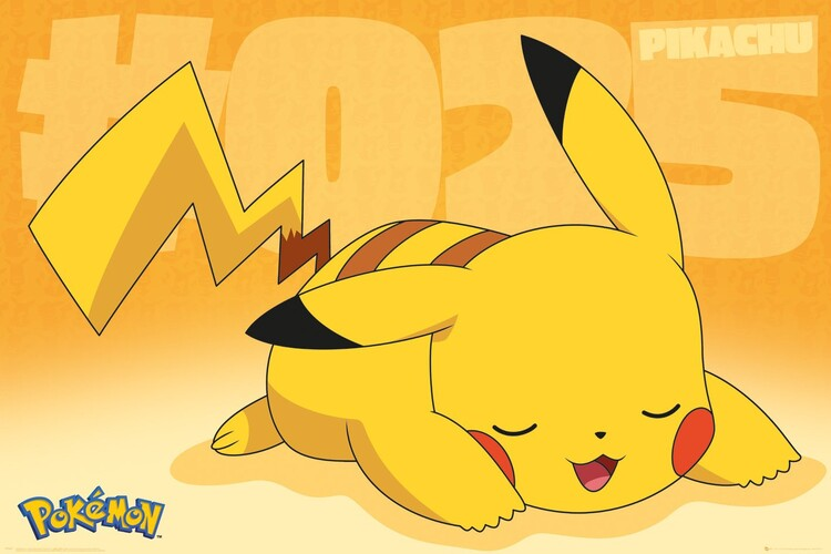 Pokemon - Pikachu Asleep Poster
