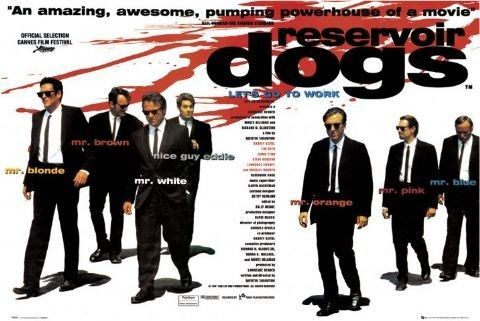 RESERVOIR DOGS - quad Poster