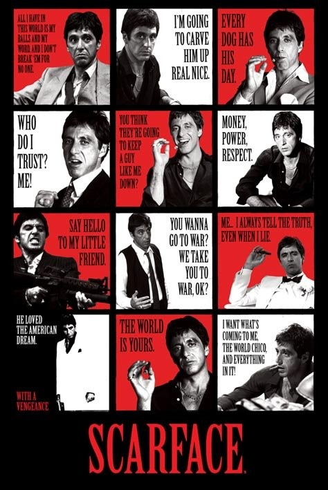 Scarface - quotes Plakat