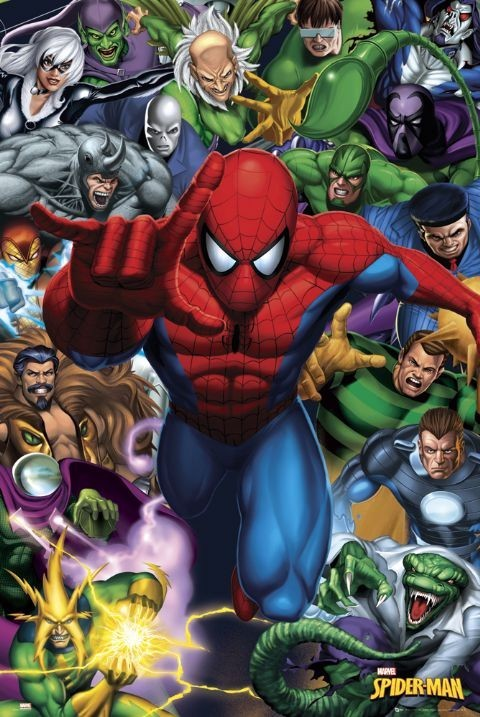 SPIDER-MAN - enemies Poster
