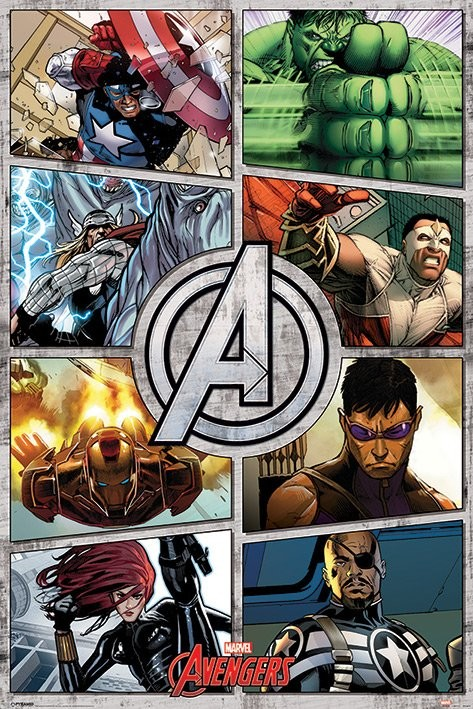 The Avengers - Comic Panels Plakat