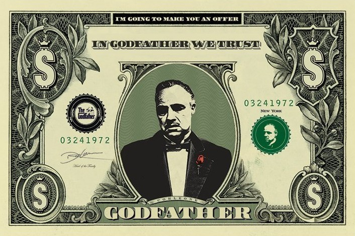 THE GODFATHER - dollar Plakat