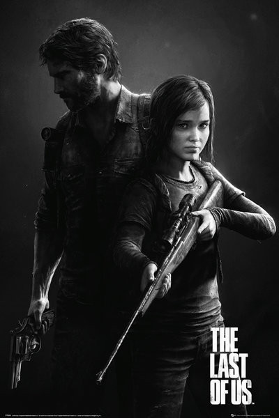 The Last Of Us - Black and White Portrait Plakat