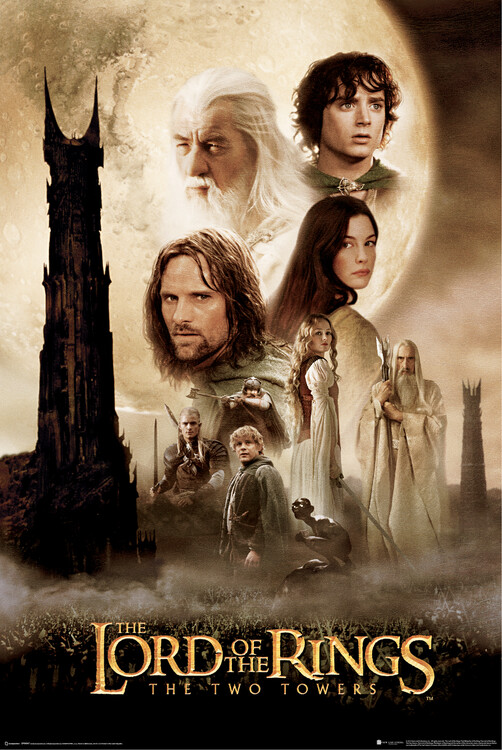 Poster The Lord of the Rings - Dva stolpa