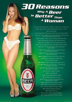 30 Reasons - Beer/woman Plakát
