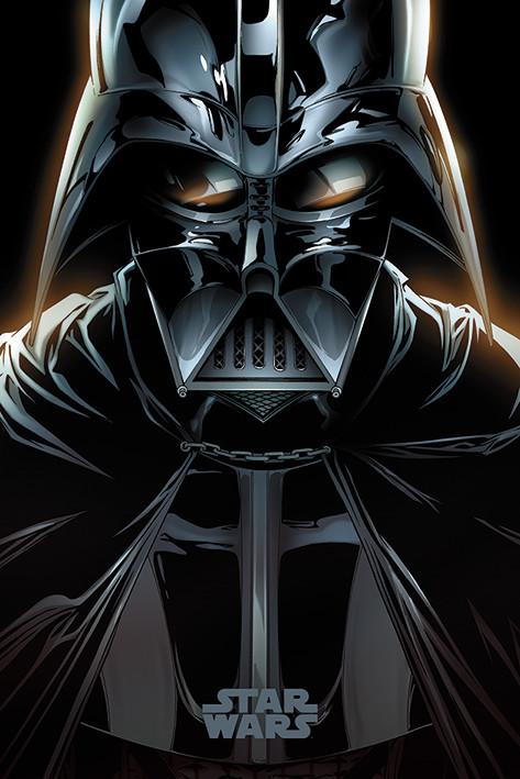 A Csillagok háborúja - Vader Comic Plakát