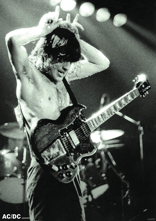 AC/DC - Angus Young 1979 Plakát