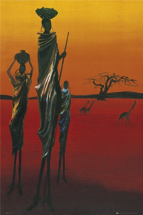 Africa - tribal Plakát