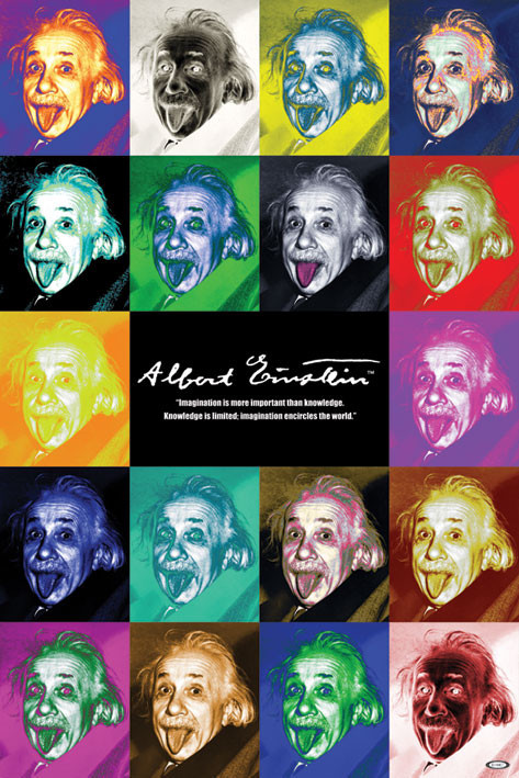 Albert Einstein - pop art Plakát