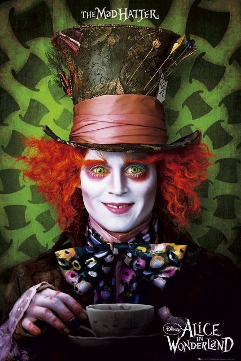 Alice in wonderland - mad hatter Plakát