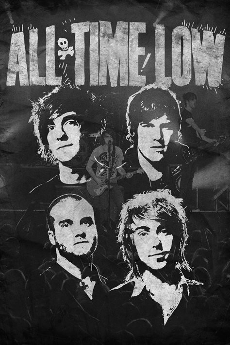 All time low - faces Plakát