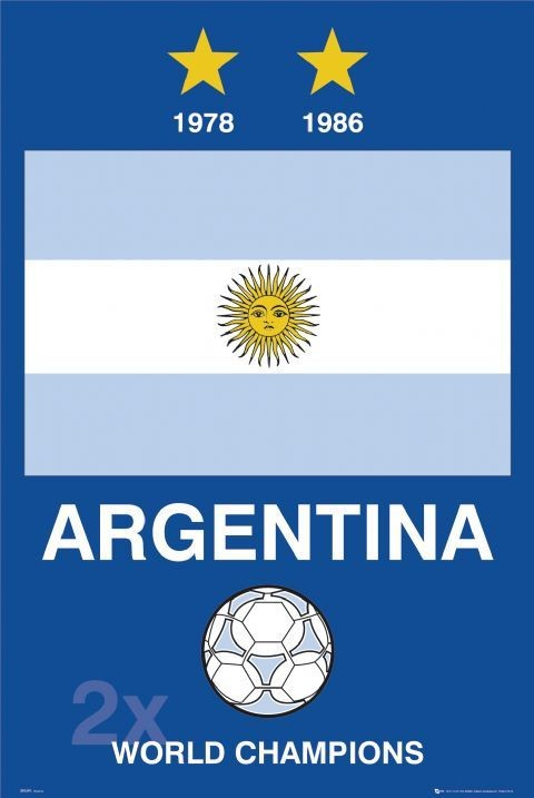 Argentina - World cup Plakát