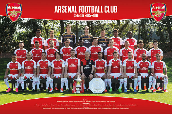 Arsenal FC - Team Photo 15/16 Plakát