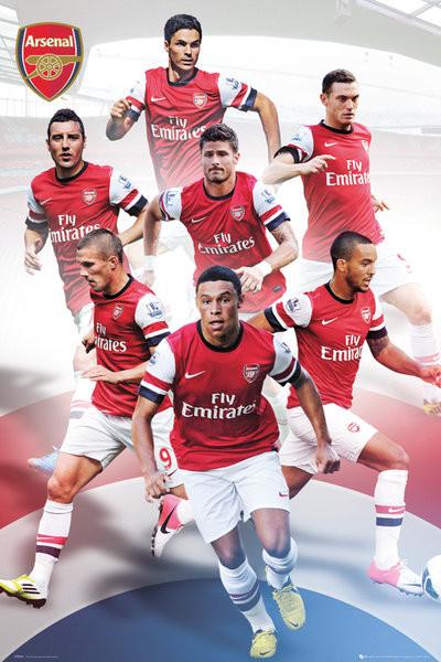 Arsenal - players 12/13 Plakát
