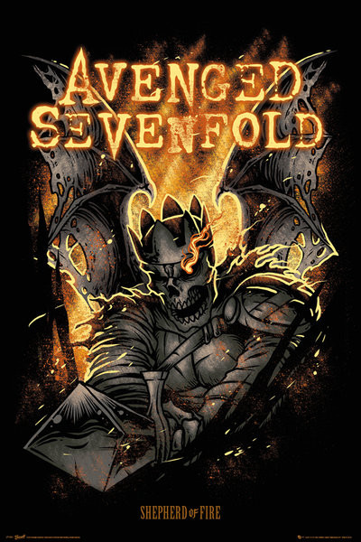 Avenged Sevenfold - Sheperd of Fire Plakát