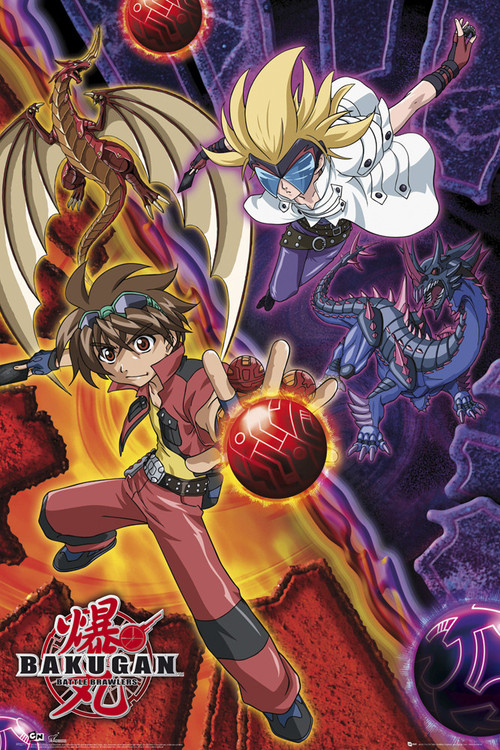 BAKUGAN - dank and masq Plakát