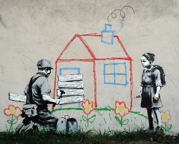 Banksy Street Art - Playhouse Plakát