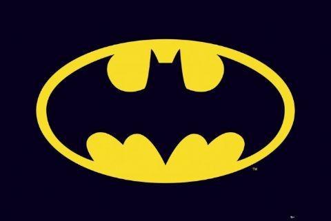 BATMAN - classic logo Plakát