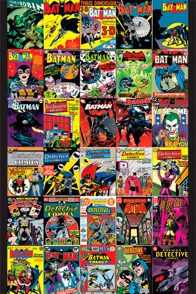 BATMAN - covers Plakát