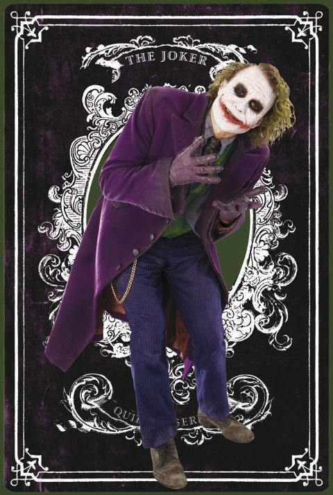 BATMAN - joker card Plakát