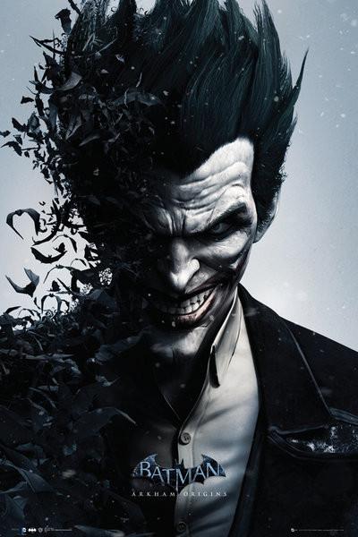 BATMAN ORIGINS - joker bats Plakát