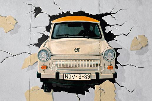 Berlin - mauer Plakát