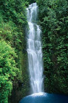 Blue lagoon – waterfall Plakát