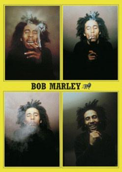 Bob Marley - 4 b&w.ikony Plakát