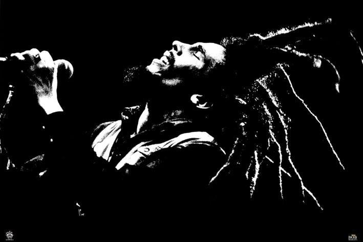 Bob Marley - black & white Plakát