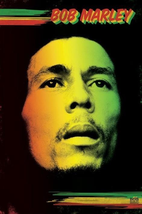 Bob Marley - face Plakát