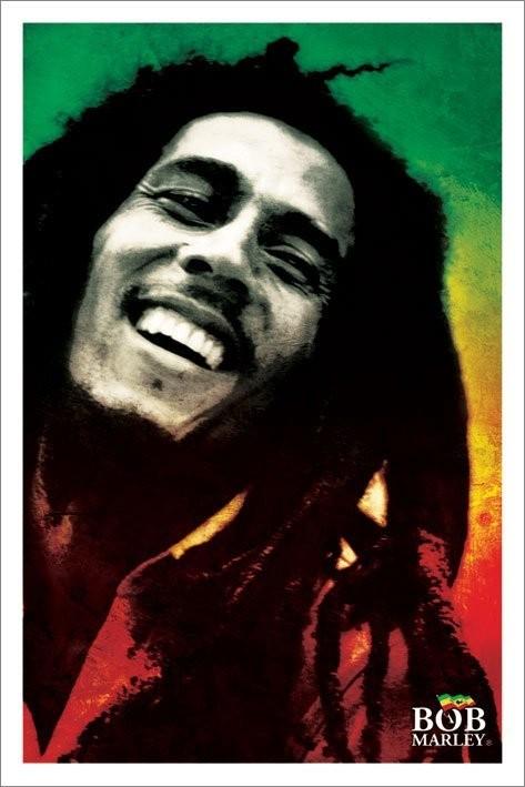 Bob Marley - paint Plakát