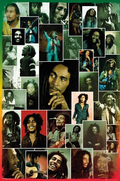 Bob Marley - Photo Collage Plakát