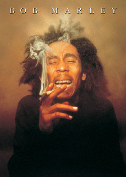Bob Marley - spliff Plakát