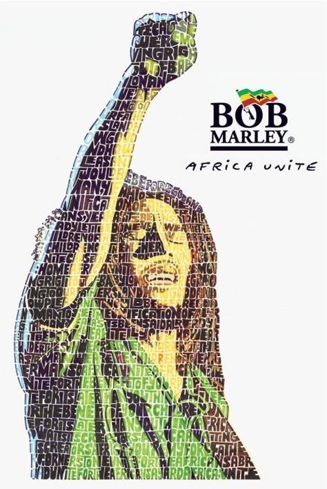 Bob Marley - unite Plakát