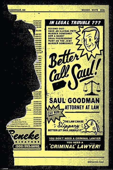 Breaking Bad (Totál Szívás) - Better Call Saul! Plakát