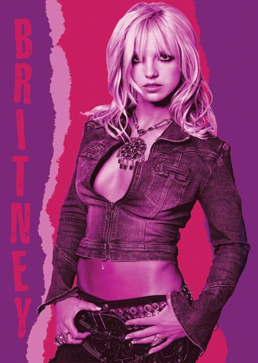 Britney Spears Red pose Plakát