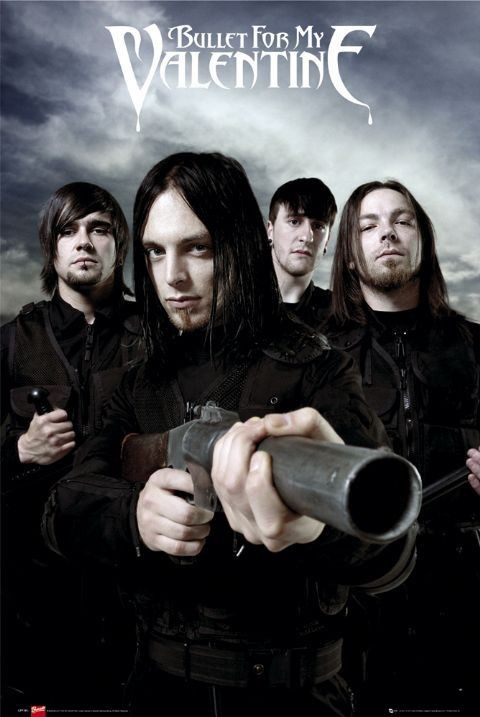 Bullet for my valentine - guns Plakát