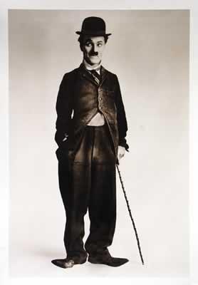 Charlie Chaplin - b&w Walking Stick Plakát