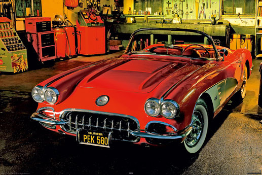 Classic car - 1958 chevrolet Plakát