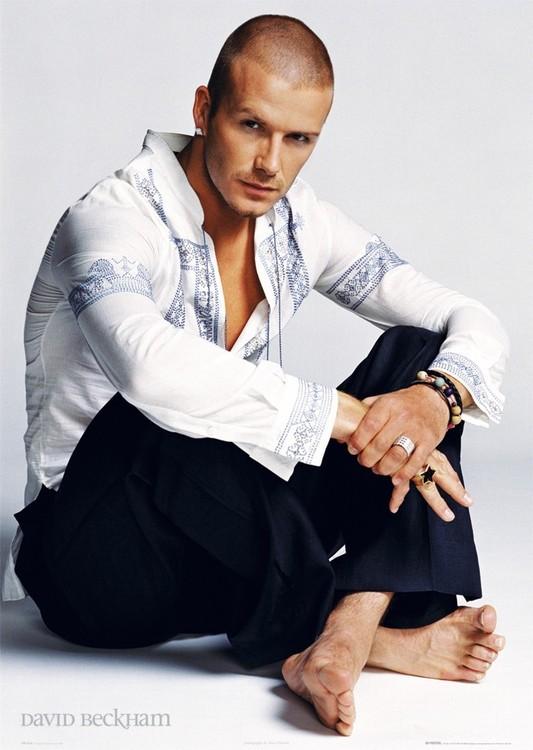 David Beckham - sitting Plakát