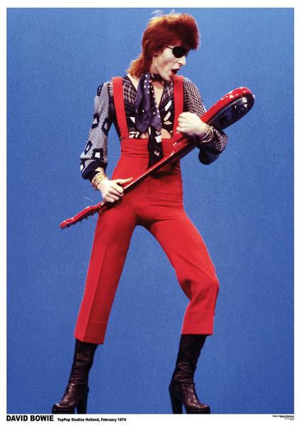 David Bowie - Top Pop Studios Holland 1974 Plakát