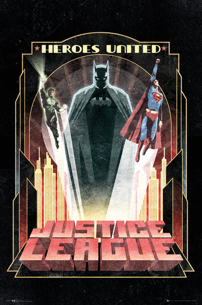 DC Comics - Batman Art Deco Plakát