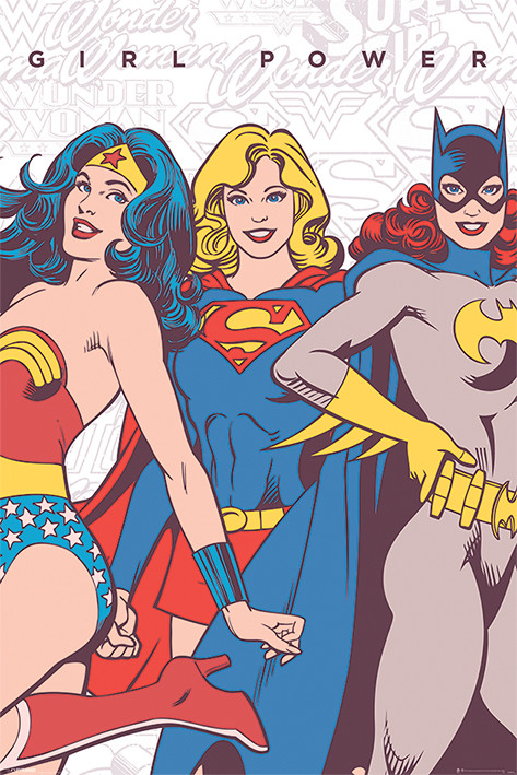 DC Comics - Girl Power Plakát