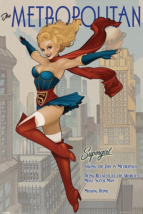 DC Supergirl - The Metropolitan Plakát